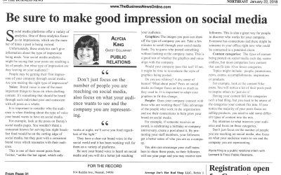 Making a good impression on social media