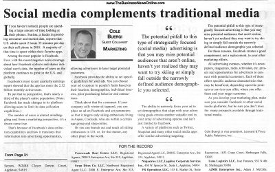 Social media compliments traditional media