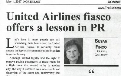 United Airlines fiasco offers a lesson in PR