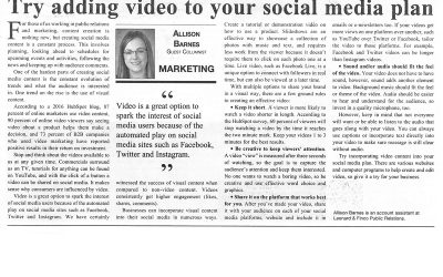 Try adding video to your social media plan