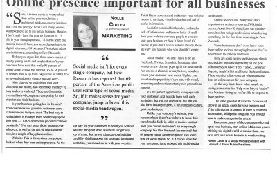 Online presence important for all business