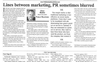 Lines between marketing, PR sometimes blurred