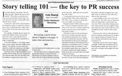 Story telling 101 – the key to PR success